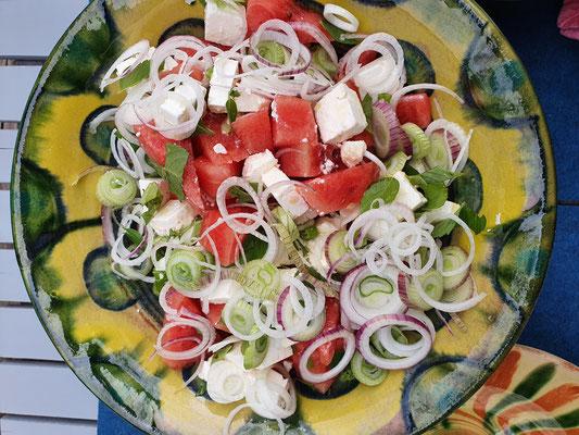 Melone-Feta-Salat