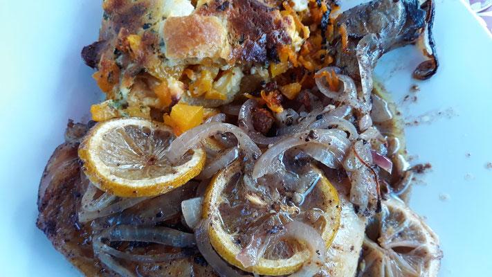 Riesen Brathähnchen-Schenkel mit Sumach, Za'atar und Zitrone