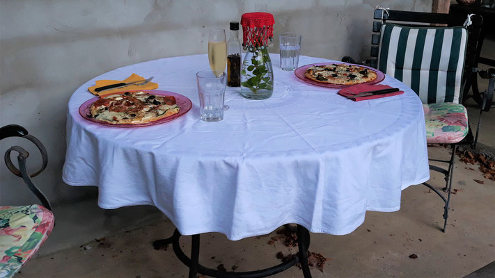 Und edel Pizza zum Geburtstagsessen