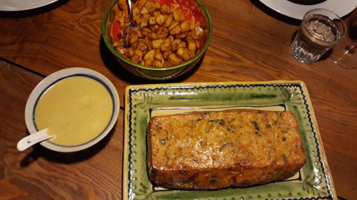 Linsenbraten mit Currysauce und Kartoffeln Masala