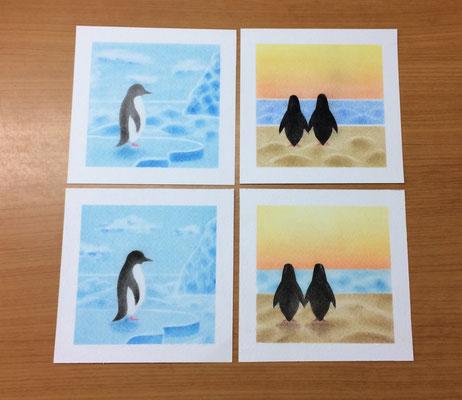 海・雲・氷とペンギン