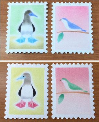 切手アート