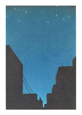 夜中(A4サイズ)
