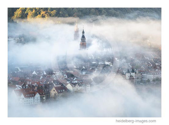 Archiv-Nr. hc2014189 / Heidelberg Altstadt im Nebel