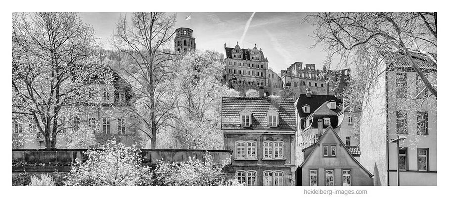 Archiv-Nr. h2015122 / Heidelberg, Häuserfassaden der Altstadt mit Schlossblick