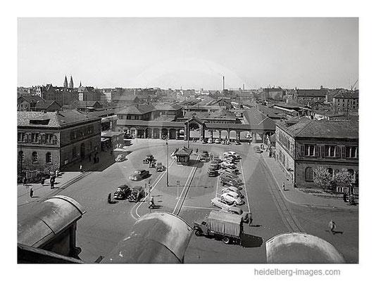 Archiv-Nr. 5002H / Alter Bahnhof Heidelberg um 1950