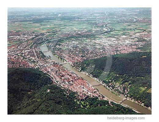 Archiv-Nr. lc/10_6432 / Blick über Heidelberg in die Rheinebene