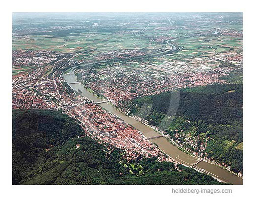 Archiv-Nr. lc/10_6432 | Blick über Heidelberg in die Rheinebene