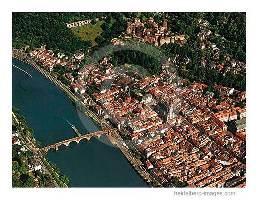 Archiv-Nr. lc10_6424 / Heidelberger Altstadt aus der Vogelperspektive