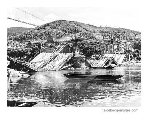 Archiv-Nr. hr287 / Zerstörte Friedrichsbrücke 1945 / Heue Theodor-Heuss-Brücke
