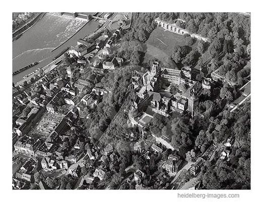 Archiv-Nr. L10_784 / Altstadt von Heidelberg, Schloss und Herrenmühle 1965