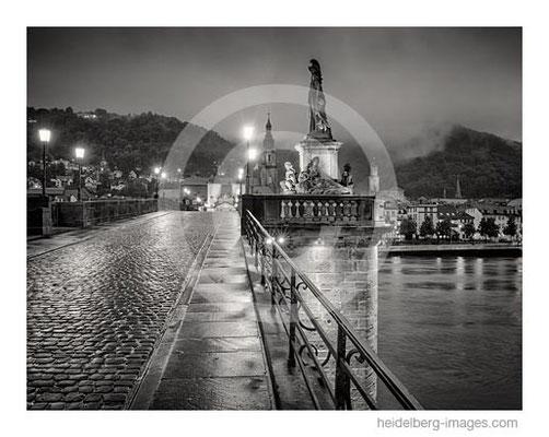 Archiv-Nr. h2014148 / Heidelberg, Alte Brücke im Abendlicht nach Regenschauer