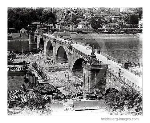 Archiv-Nr. 78H / Reparaturarbeiten an der Alten Brücke 1928