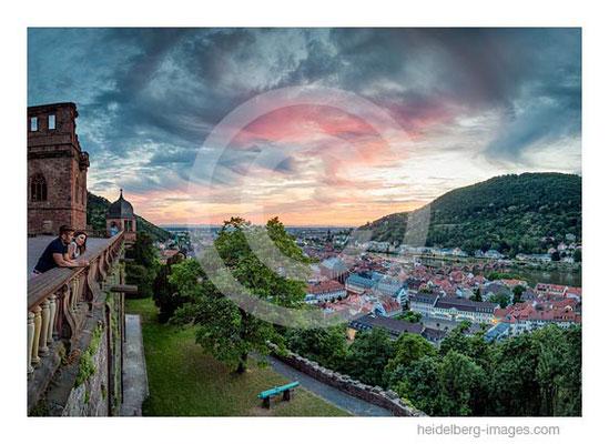 Archiv-Nr. hc2015140 / Blick vom Schloss auf den Sonnenuntergang