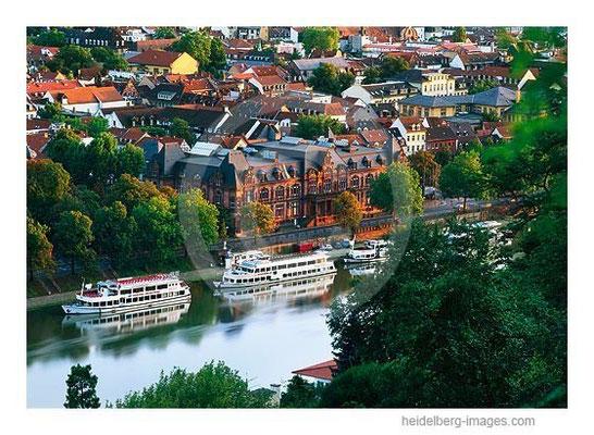 Archiv-Nr. hc2005139 / Weisse Flotte und Stadthalle von Heidelberg