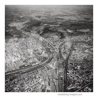 Archiv-Nr. L10_2110 / Luftbild von Heidelberg, Königstuhl und Umgebung 1968