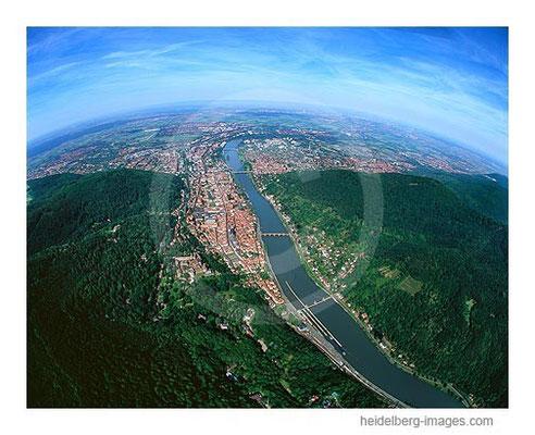 Archiv-Nr. lc10_6807_d / Blick über Heidelberg in die Rheinebene