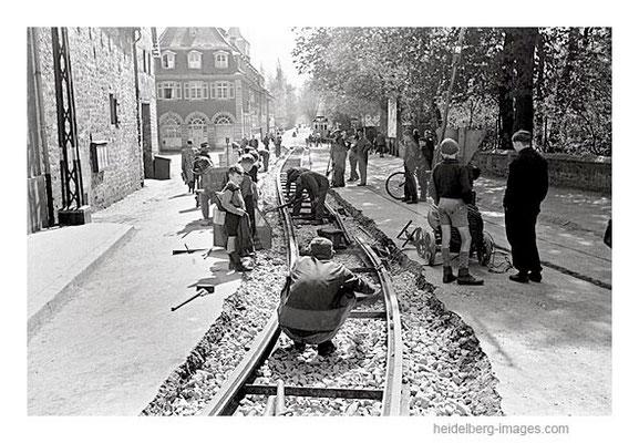 Archiv-Nr. 4531-21H / Schienenverlegung in Handschuhsheim