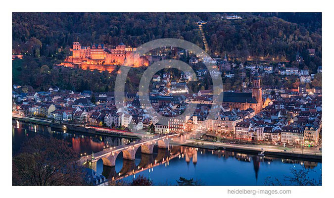Archiv-Nr. hc2015170 / Heidelberger Altstadt im Abendlicht