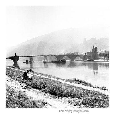 Archiv-Nr. h4535-7 / Malerische Ansicht auf die sich im Aufbau befindende Alte Brücke
