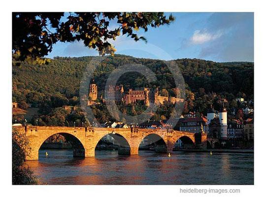 Archiv-Nr. hc97153 / Alte Brücke u. Schloss im Abendlicht