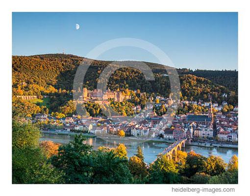 Archiv-Nr. hc2013158 / Blick vom Philosophenweg auf Heidelberg mit Mond