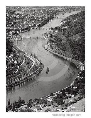 Archiv-Nr.  L10_060 / Neckarschleife Richtung Westen 1958