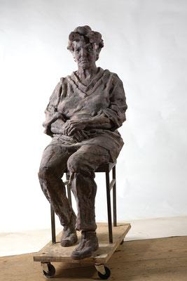 GUDRUN, Gips für Bronze, lebensgroß, 2005
