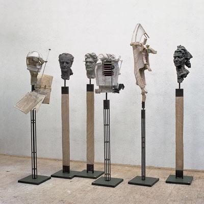 KOLLEGEN, Gips/diverse Materialien, 2000