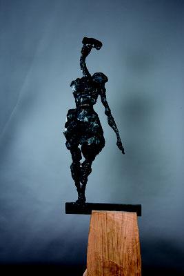 SOLO, Bronze/Eiche, Höhe 220 cm, 2017