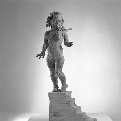 ENTSICHERT, Bronze/Eiche, 210 cm, 1997