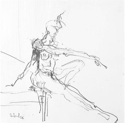 RAPPORT, Bleistift, 30x30 cm, 2006