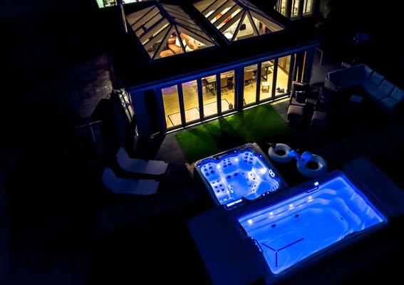 Dual Zone Swim Spa mit Licht