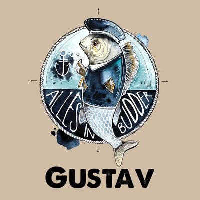Aquarellmotiv_fisch_gustav_hahn_ueber_bord