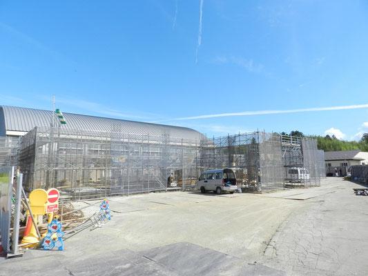 新穂行政SC庁舎建設工事現場(9月)01