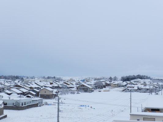 新穂の雪景色01(新穂行政SC屋上から)