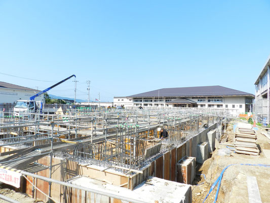 新穂行政SC庁舎建設工事現場(7月)01