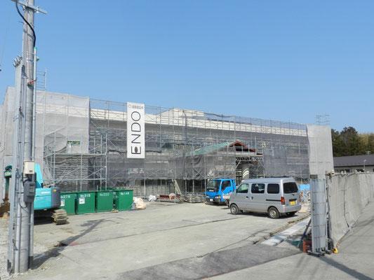 新穂行政SC庁舎建設工事現場(3月)01
