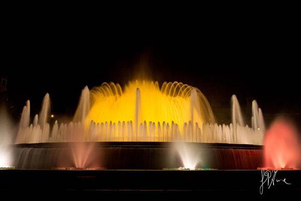 Barcellona - La fontana del Palazzo Reale - (2014)