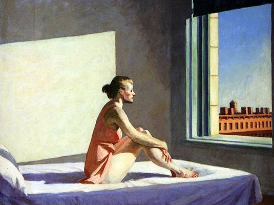 Edward Hopper - Sole al mattino