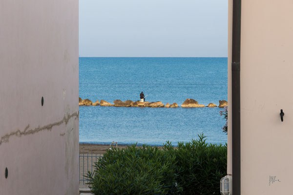 Pescatore al primo mattino - Tombolo della Giannella - (2018)
