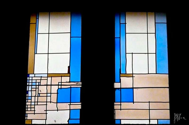Vetrate in chiesa (Omaggio a Mondrian) - Toledo  - (2010)
