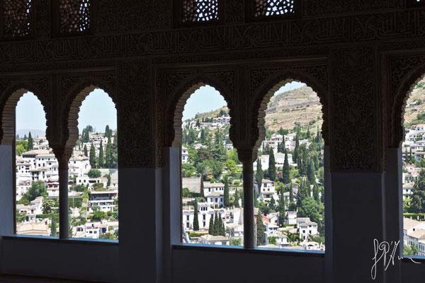L'Albayzín visto dall'Alhambra