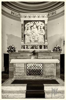 Madonna col Bambino e i Santi Francesco, Elisabetta , Cristina e Lorenzo di Andrea della Robbia