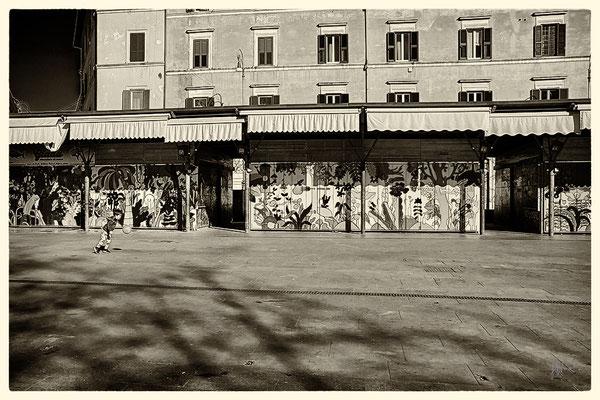 Piazza San Cosimato senza mercatino