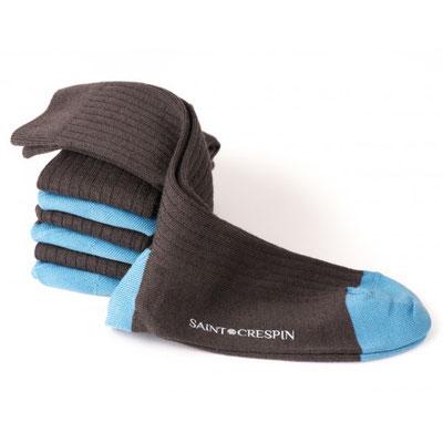 7 paires de chaussettes en laine fabrication - Française  bleu grise