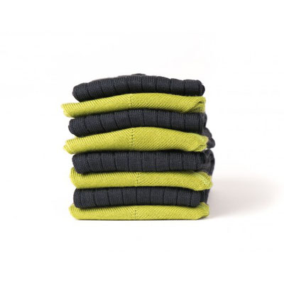 Chaussettes verte/noire fabrication Française
