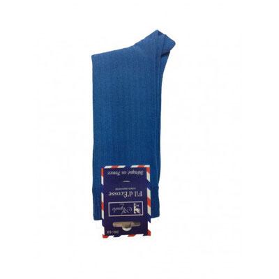 Chaussette de couleur bleu fabrication Française