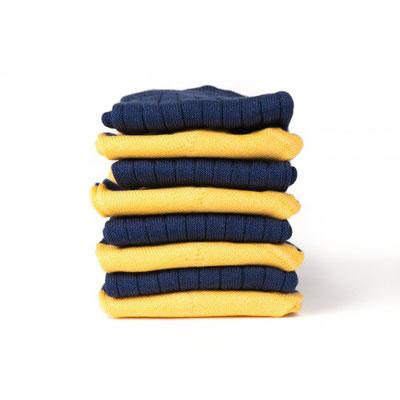 Chaussettes jaune/noire fabrication Française