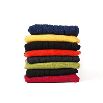 Chaussettes jaune/rouge/verte/noire fabrication Française